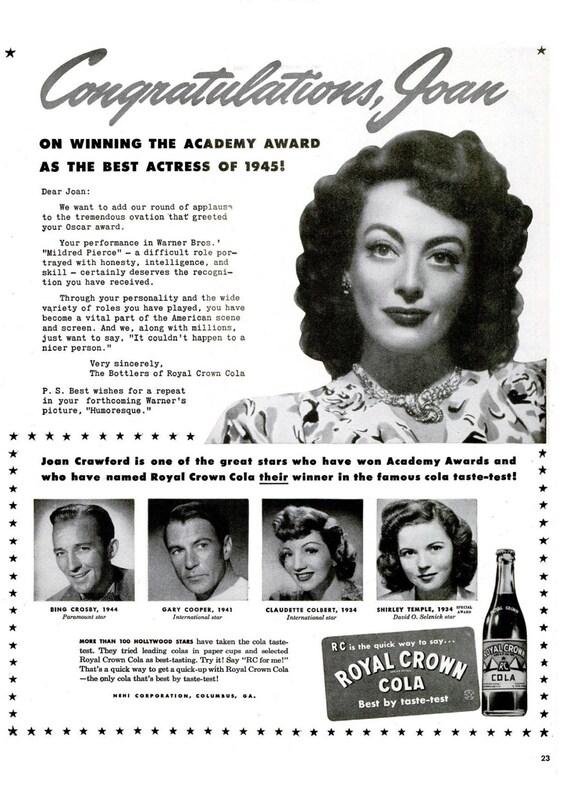 JOAN CRAWFORD Poster Vintage Hollywood 5 Multiple Sizes