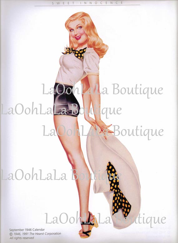 Surprising 1946 Polka Dot Pinup Digital Printable Retro Pin Up Girl Etsy Funny Birthday Cards Online Sheoxdamsfinfo