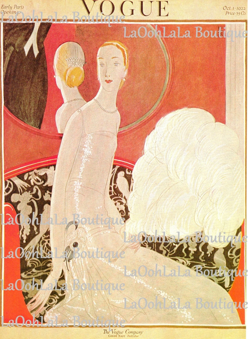 11ed3ec1c19e 1922 Vogue Moulin Rouge Mademoiselle Cover Eduardo Benito Art