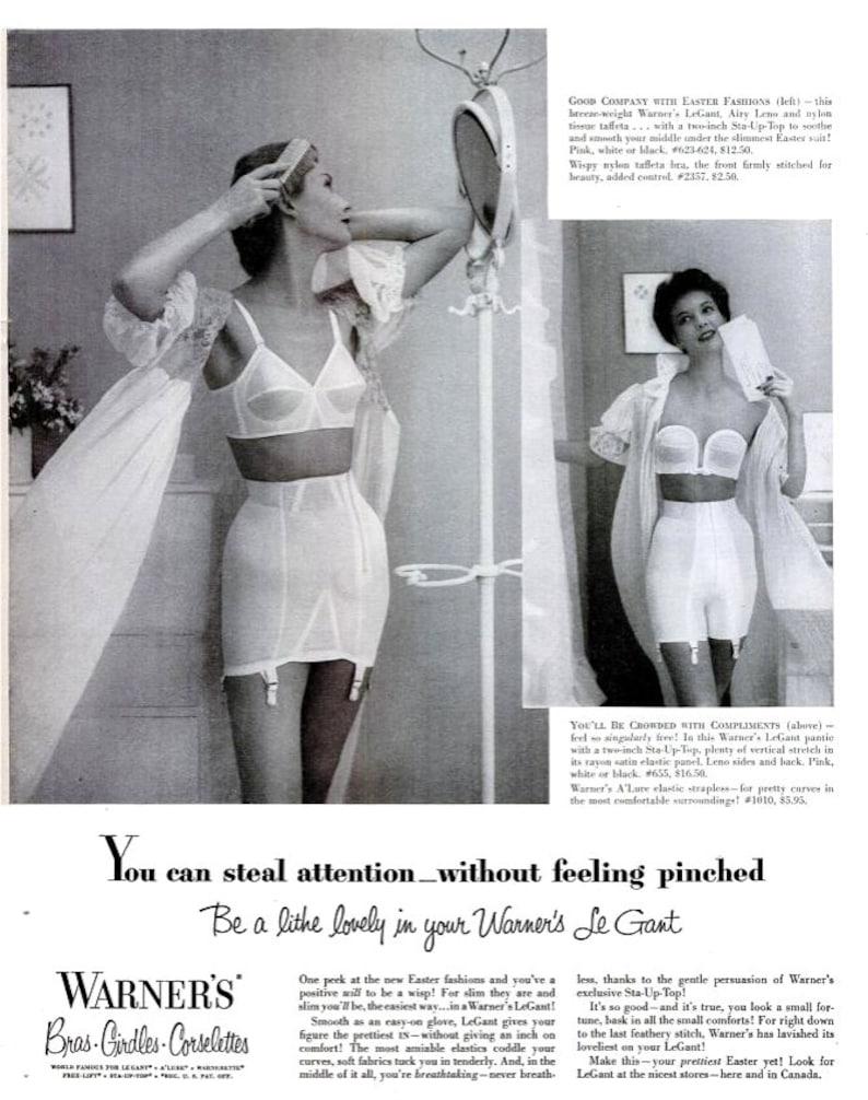 c0a371864 1953 Warner s Advertisement Vintage Bridal Bra Girdle