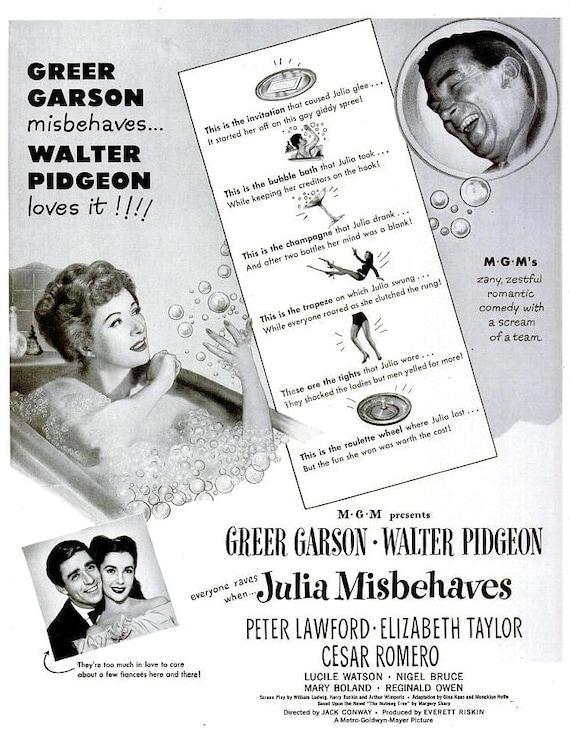1948 Julia Misbehaves Greer Garson Elizabeth Taylor Movie | Etsy
