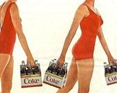 1965 Coca Cola Advertisement - Retro Nostalgic Paper Ephemera Nautical Beach Home Decor Vintage Coke Soda Parlor American Nostalgia Print Ad