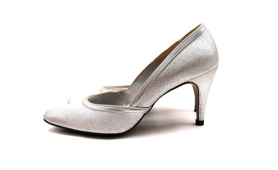 b0210bcbee1 1960s Silver Stardust Stilettos Vintage Imperial Quality