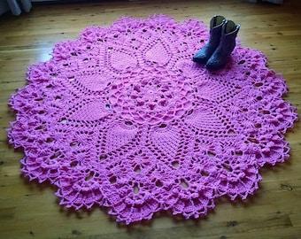 PINEAPPLE SONG; ENGLISH crochet rug/doily pattern; pdf; Kristoffersen; Home decor; crochet thread; ePattern; farmhouse; Cottage