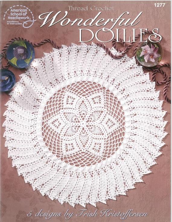 WONDERFUL DOILIES crochet pattern doily crochet rug thread | Etsy