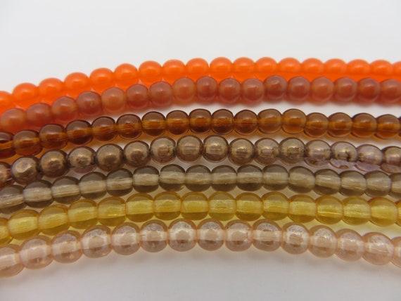 Tangerine 50 6 x 4mm Czech Glass Pearl Coated Drops