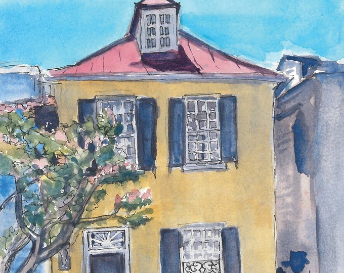 Charleston French Quarter Watercolor Print