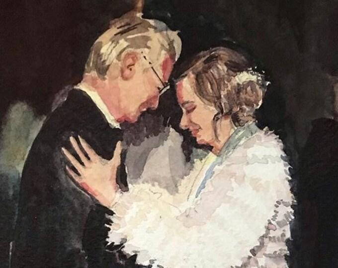 Custom Bridal Watercolor Portrait