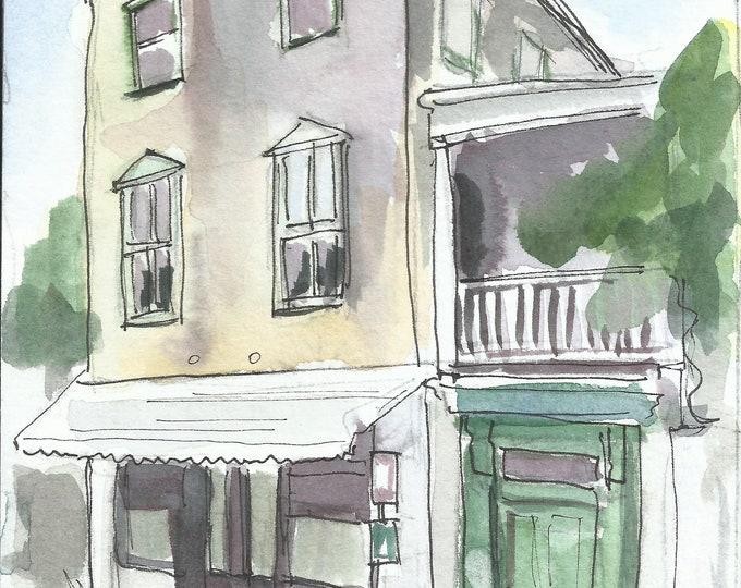 Charleston Single Architecture Watercolor 5x7