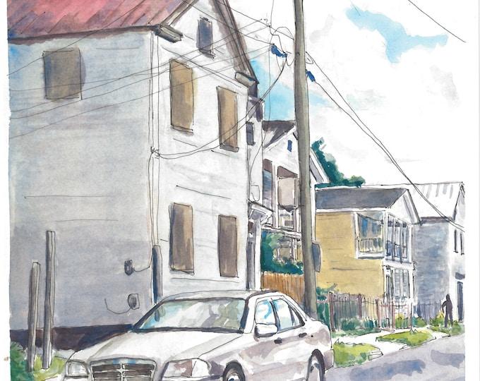 Charleston Westside Watercolor Painting Print