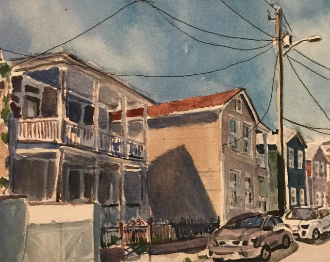 Charleston Watercolor Eastside Print Sunny House Painting