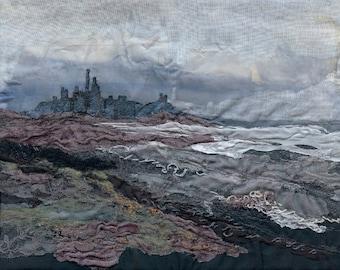 Dunstanburgh Castle - Textile Art Giclee Print