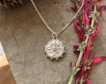 Sterling Silver Moon and Sun Necklace