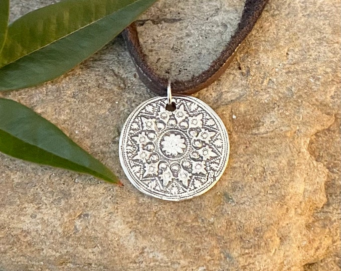 Sterling Silver Mandala Style Necklace or Pendant