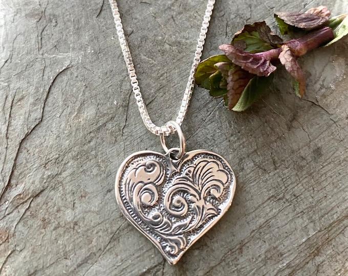 Sterling Silver Southwestern Heart
