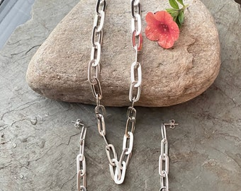 Sterling Silver Larger Paper Clip Chain