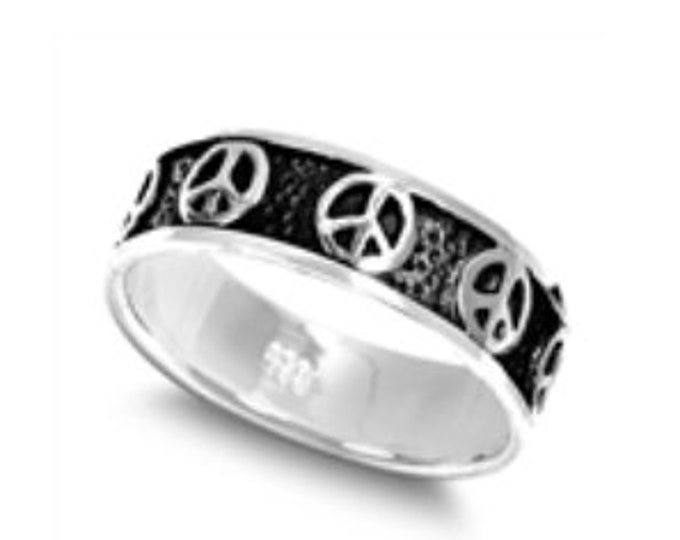 Sterling Silver Peace Band