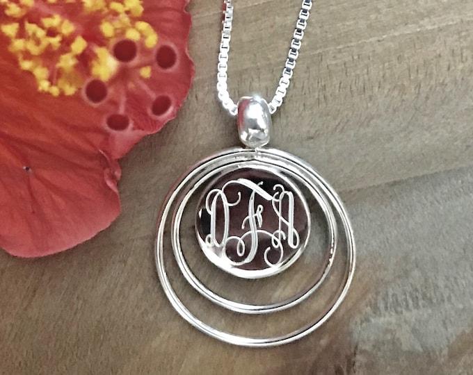 Sterling Silver Monogrammed Necklace
