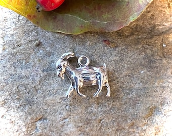 Sterling Silver Billy Goat Charm Pendant