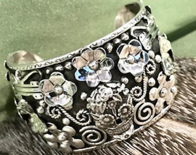 Sterling Silver Skull Cuff Bracelet