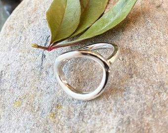 Sterling Silver Round Karma Ring