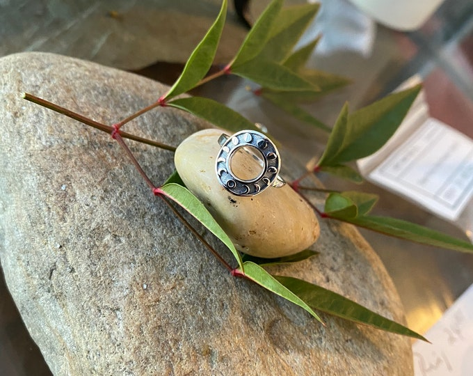 Sterling Silver Phases Of The Moon Ring