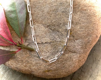 Sterling Silver Paper Clip Chain