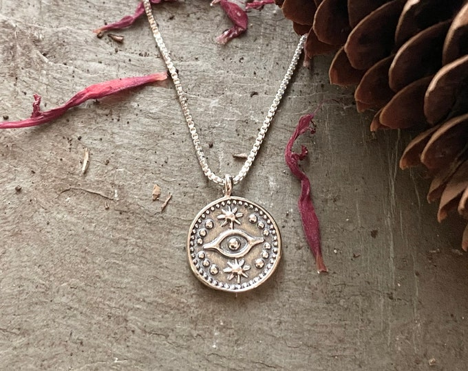 Sterling Silver Evil Eye Necklace