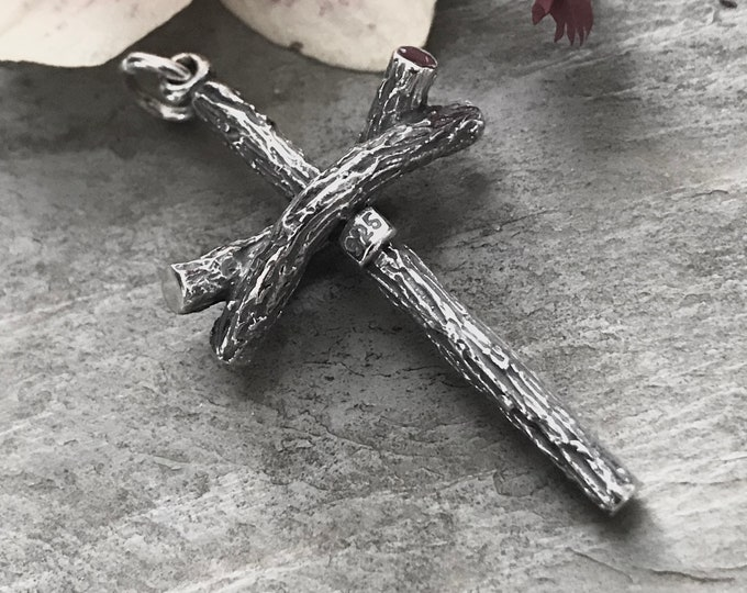 Sterling Silver Oxidized Cross Pendant