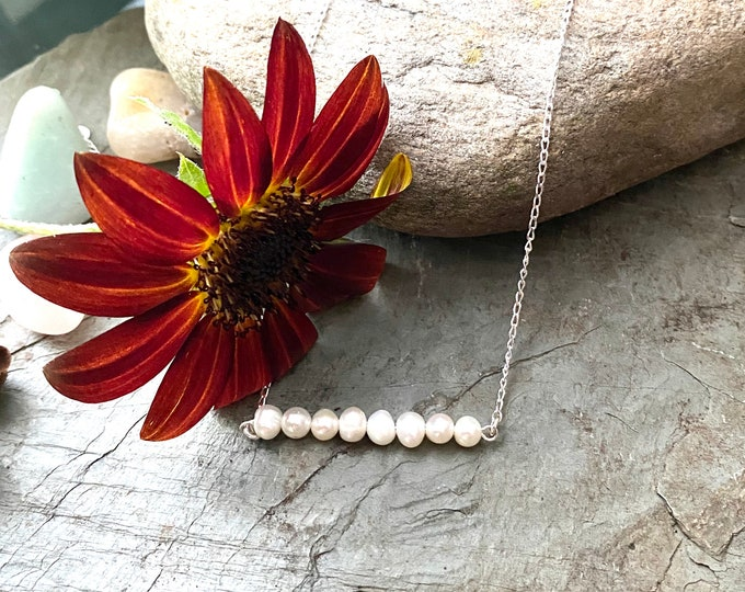 Sterling Silver Freshwater Pearl and Sterling Necklace
