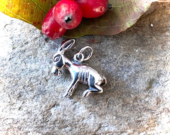 Sterling Silver Donkey Mule Charm Pendant