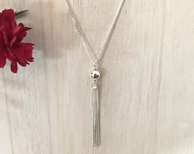 Sterling Silver Tassel Style Necklace