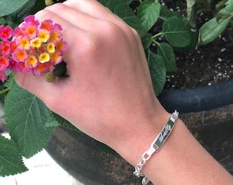 Sterling Silver I.D.  Childrens Bracelet 6 Inch Diameter Wrist Size