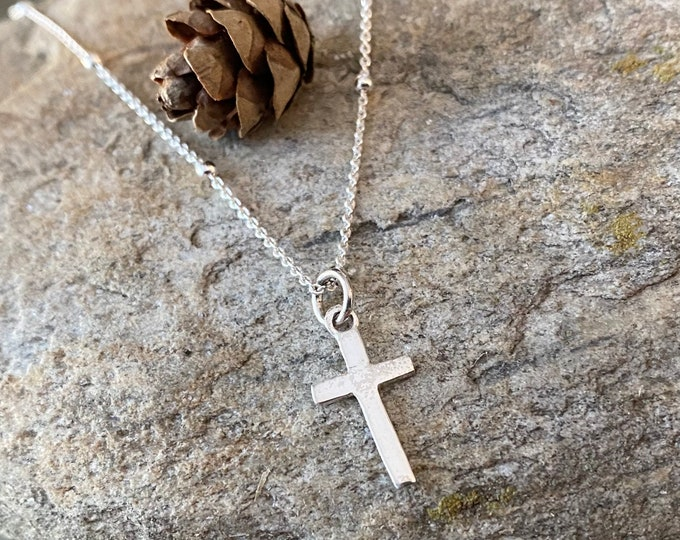 Sterling Silver Cross Charm Pendant