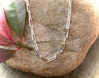 Sterling Silver Paper Clip Chain