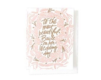 Most Beautiful Bride Card