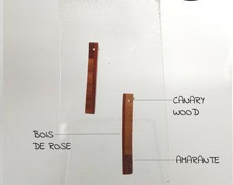 Wood studs earrings