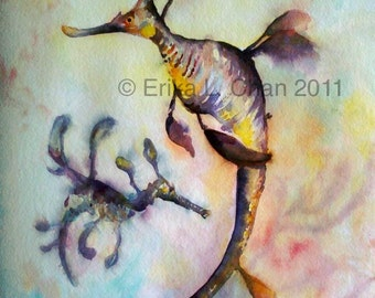 Weedy Sea Dragon Watercolor Print (8.5x11 in)