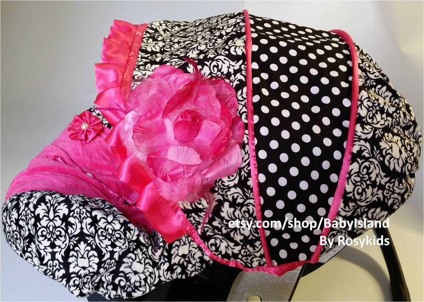 Baby Car Seat Cover Canopy Infant Car Seat Cover Canopy Damask Etsy