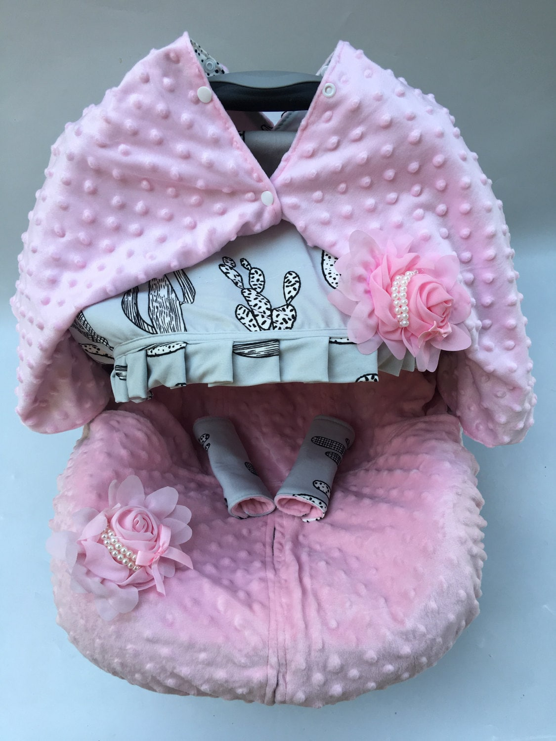 45 Off Baby Car Seat Cover Canopy Blanket Nursing Breastfeeding Mons Infant Pink Girl Fit Most
