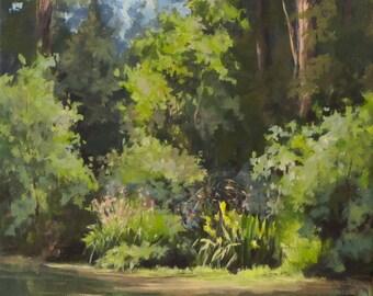 Pond's Edge - Small Original Plein Air Painting