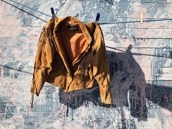 Swede Fringed Jacket - Vintage - Tan