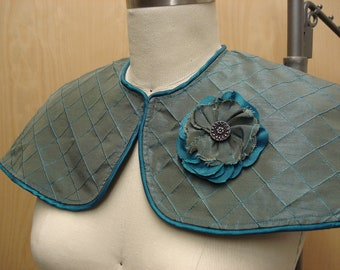 Green and Blue Flower Capelet
