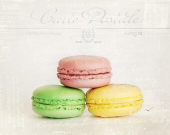 Love From France - Photograph of Colorful French Macrons - Fine Art Photograph