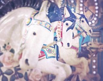 Carousel Horse Print, Nursery Decor, Merry go Round, Jersey Shore
