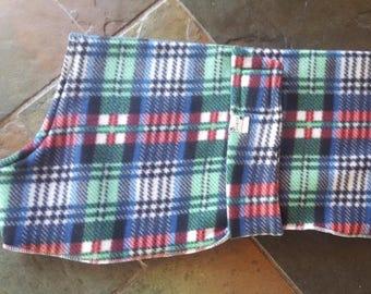 Dog Pyjamas Green/Blue Tartan 65cm Medium