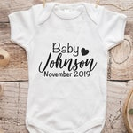 Personalized Baby Announcement Onesie, Personalized Baby Onesie, Baby Onesie Announcement, Pregnancy Announcement Onesie, Pregnancy Reveal