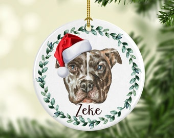 Pitbull Christmas Ornament.Pitbull Christmas Etsy