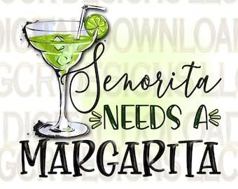 Señorita Margarita, Downloads, Sublimation Download, Downloadable Prints, Sublimation Designs, File, Digital Download, Clipart, Graphics