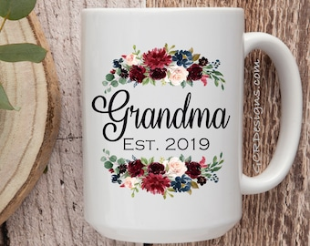 d5ece151bef Grandma Established, Grandma Mug, Gifts for Grandma, Grandma Coffee Mug, Grandmother  Gift, Coffee Mug, Nana Mug, worlds best nana, nana gift